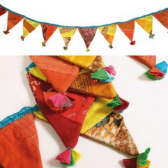 Handmade fabric bunting