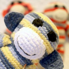 Handmade Fairtrade Crochet Monkey Rattle