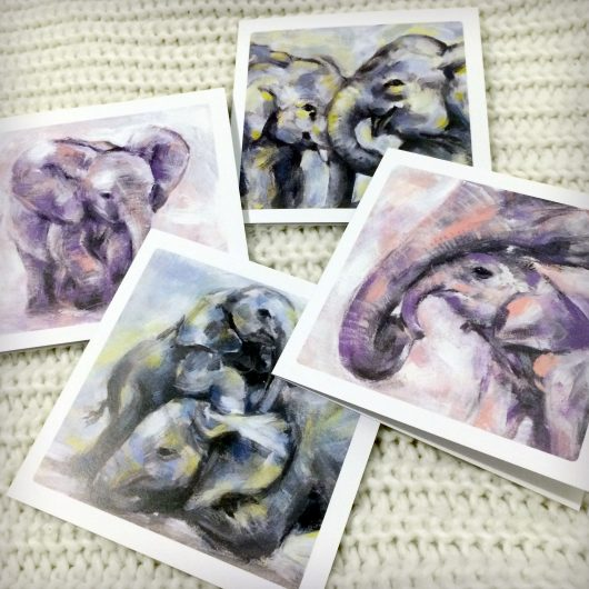 Elephant Art Cards