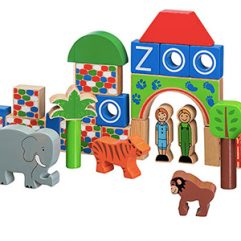 Lanka Kade Handmade Wooden Zoo Blocks