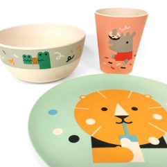 Makii-Children's Bamboo Dinner Set
