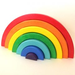 FairKind Child Wooden-Rainbow-Stacking-Toy
