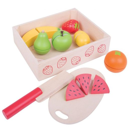 Chopping Fruit Crate with Wooden Knife & Chopping Board