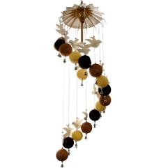 Doves & Cotton ball mobile