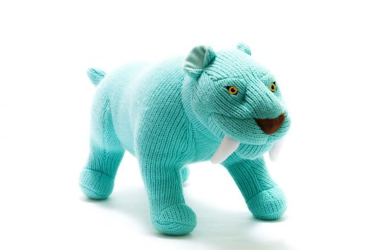 large knitted sabre tooth tiger