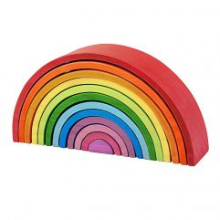 Wooden Stacking Rainbow – Large