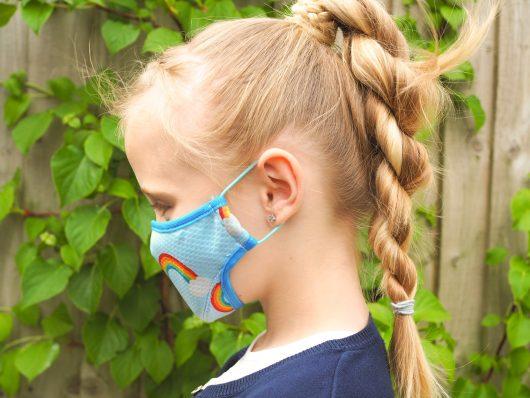 Kids Washable Face Mask Rainbow
