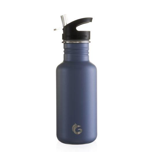 stainless steel water bottles one green bottle powder coated