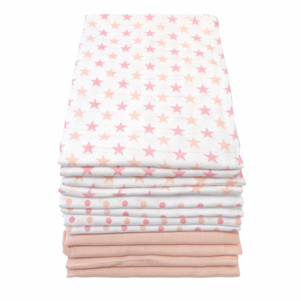 Muslins 12 Pack – Pink