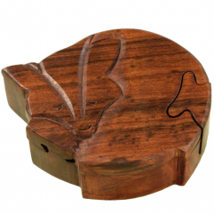Wooden Fox Puzzle Box