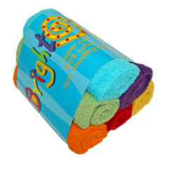 bright bots terry squares cloth nappies colourful