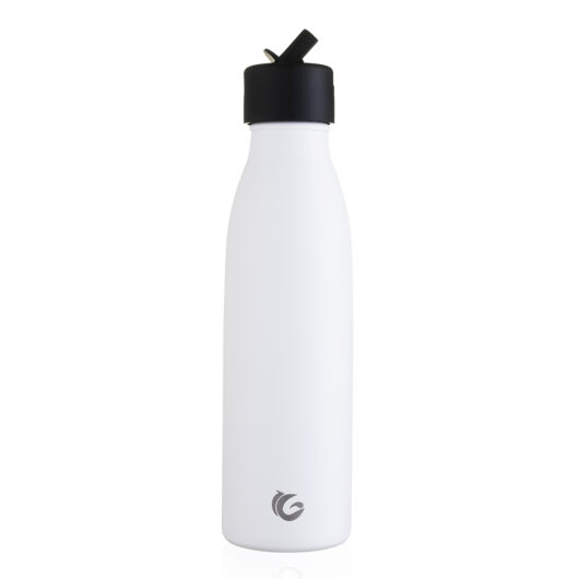 insulated bottle sport flip cap white
