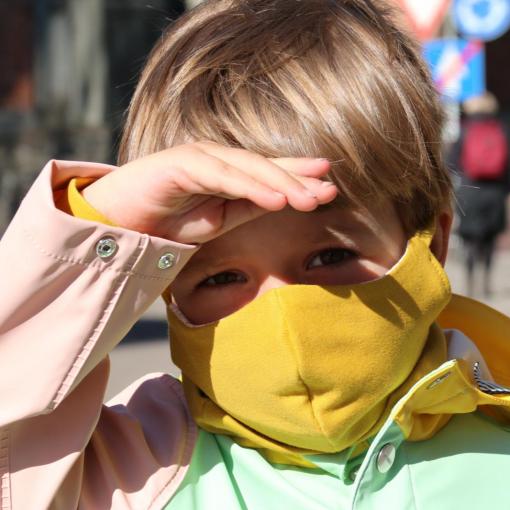 Organic Cotton Mask Yellow