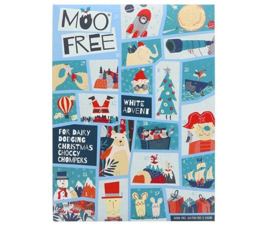 Moo Free Kids White Choc Advent