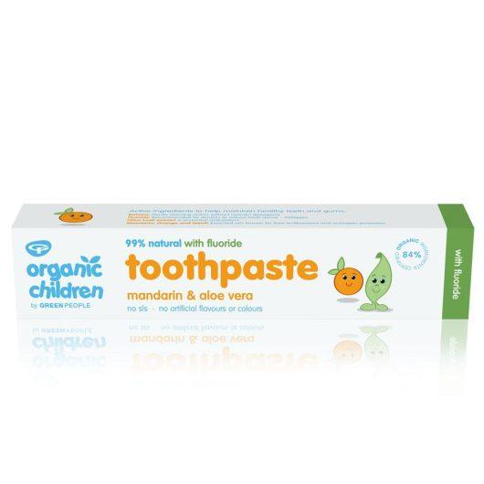 Organic Children's Toothpaste - Mandarin with Floride