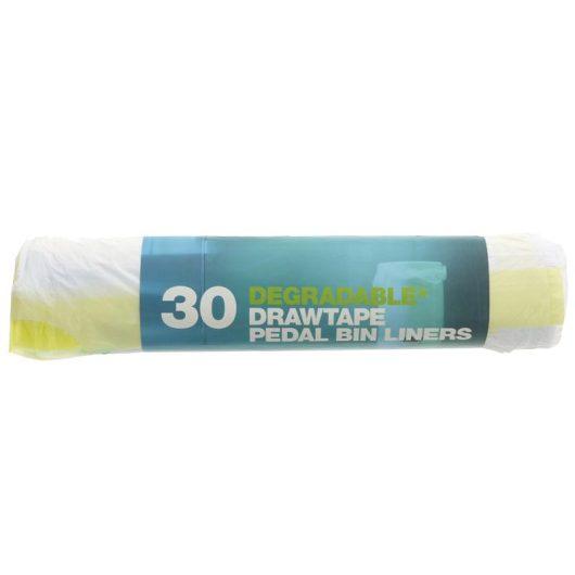 Degradable Draw-tape Pedal Bin Liners - 30x rolls