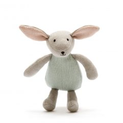 scandi Organic cotton bunny rabbit in teal