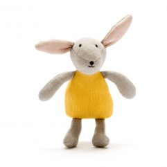 scandi Organic cotton bunny rabbit mustard