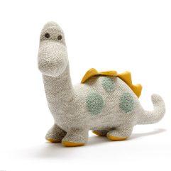scandi knitted oganic cotton mustard and teal diplo