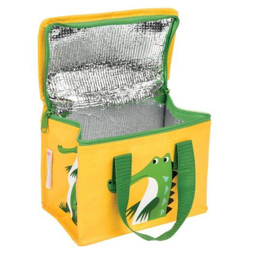 crocodile lunch bag inside